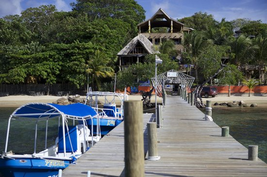 Tranquilseas Eco Lodge and Dive Center: Dockside