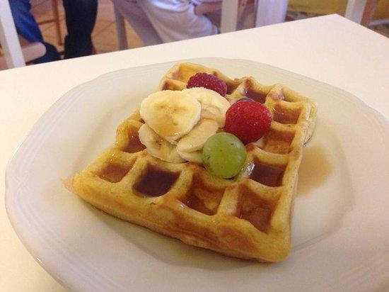 B&B Vegan La Casota: Waffle vegan