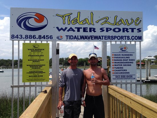 Tidalwave Watersports: The Owners /Brothers. If you want to have a great experience with great people come here!
