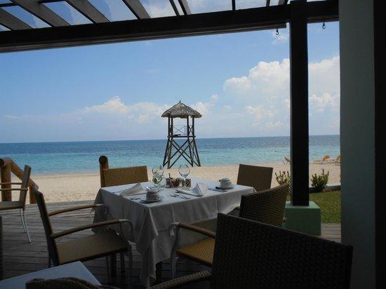 Iberostar Grand Hotel Rose Hall: View of the beach from Port Maria restaurant