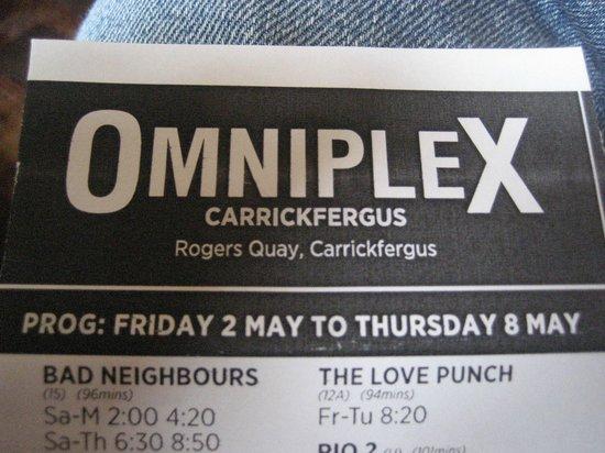 Carrickfergus Omniplex: Flyer
