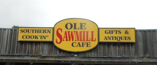 Ole Sawmill Cafe: Sign