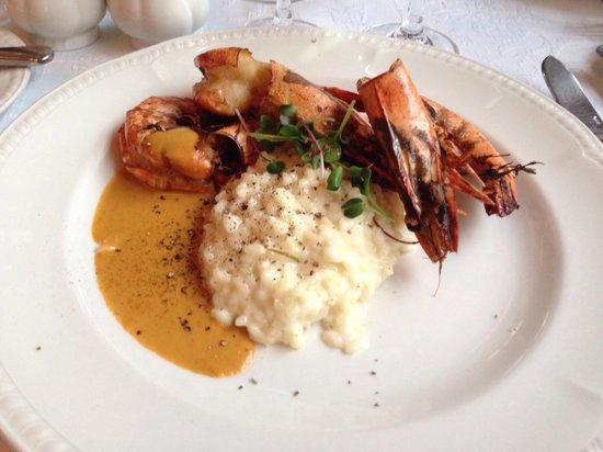 Neiburgs Restaurant : King prawns and risotto