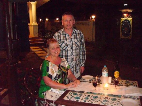Presa di Goa Country House : Evening meal at Presa Di Goa