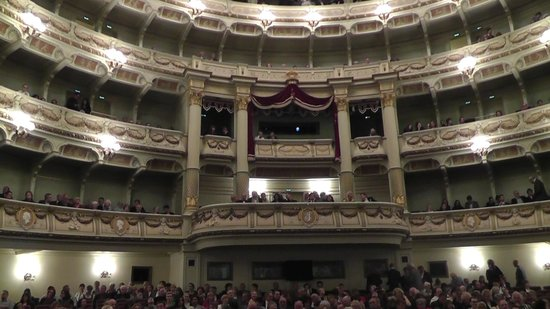 Semper Opera House (Semperoper): Looking back from our seats.