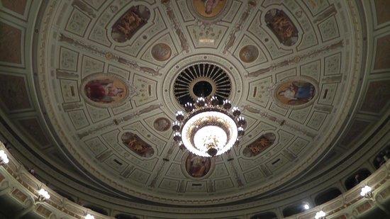 Semper Opera House (Semperoper): The ceiling of the opera house.