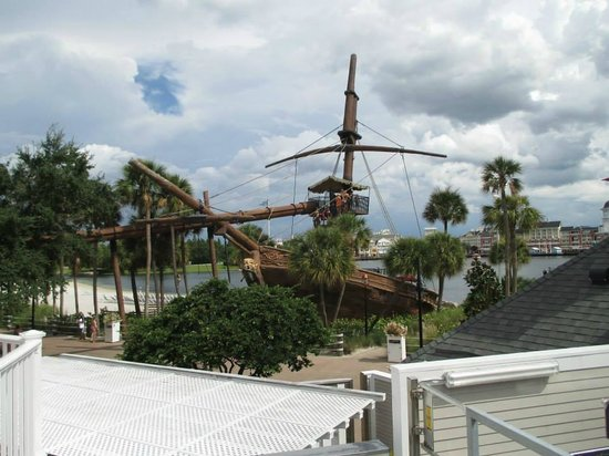 Disney's Beach Club Resort: The slide is fun for wannabe pirates