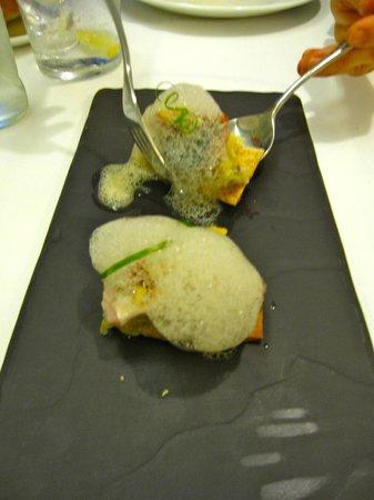 Restaurant Blanqueries: eine der Vorspeisen