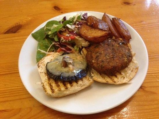 The Warehouse Cafe: Blue cheese & mushroom burger