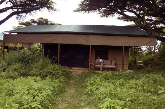 Ang'ata Camp Ngorongoro : Out tent, with comfy outdoor space.