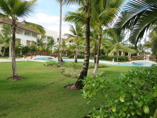 Secrets Royal Beach Punta Cana: Garden view from our room.