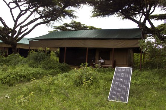 Ang'ata Camp Ngorongoro : Out tent, the outdoor lighting is solar powered.