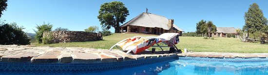 Addo Bush Palace Private Reserve: main lodge from pool