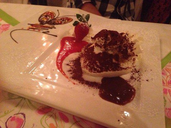 K.u.K. Restaurant Zum Kaiser Franz Joseph : Tiramisu, the picture in the plate is chocolate and sauce