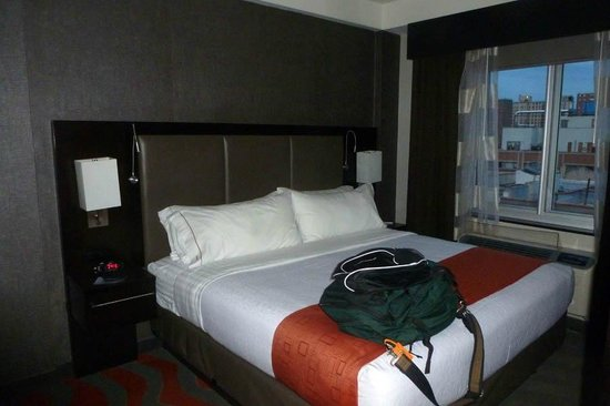 Holiday Inn NYC - Lower East Side: bed and view