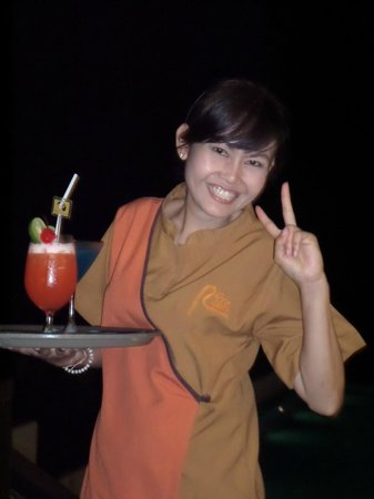 The Rock Hua Hin Resort: happy hour cocktails delivered to the sun deck