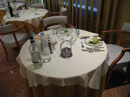 Hotel Terme Orvieto: Tavolo con antipasto già servito