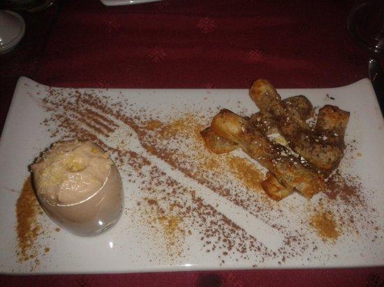 La Forge: Croustillants à la banane, cannelle et mousse au nutella
