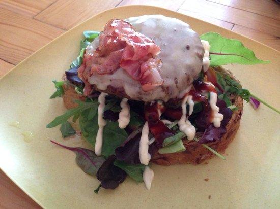 Restaurant Blij : Open faced burger