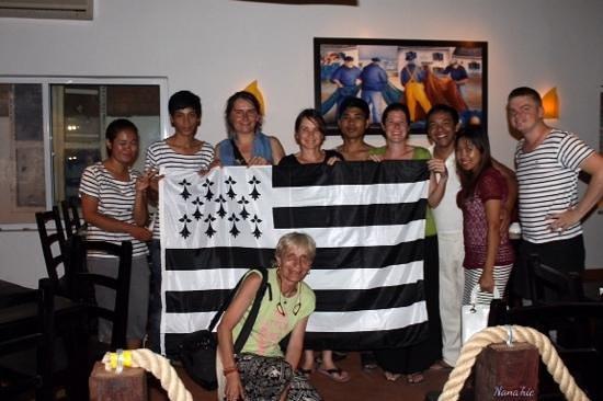 Happy Guest House: Etre a Phnom Penh et trouver un resto breton. il fallait le faire