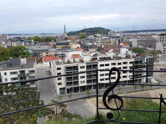Baneheia: great view of Kristiansand