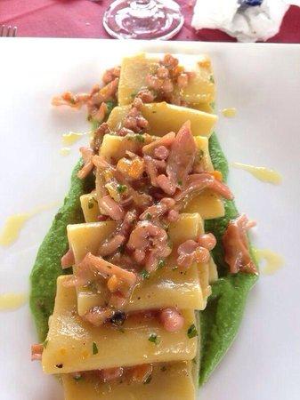 Ristorante Da Giovanni: Paccheri al ragu' di totano su crema d broccoli