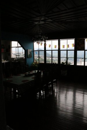 Mirador Andino Hostel: view from the dining room