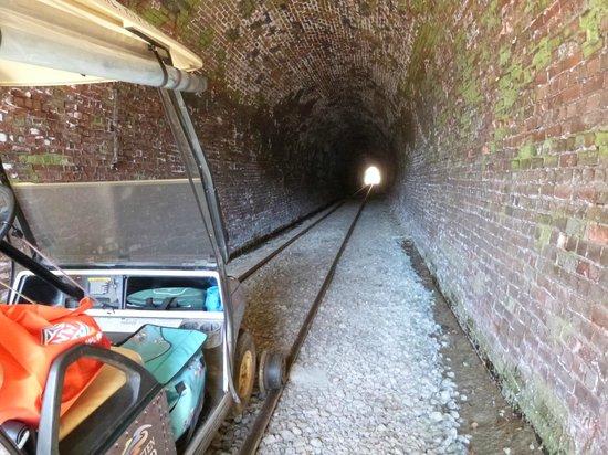 Forgotten World Adventures: A fantastic brick lined tunnel.