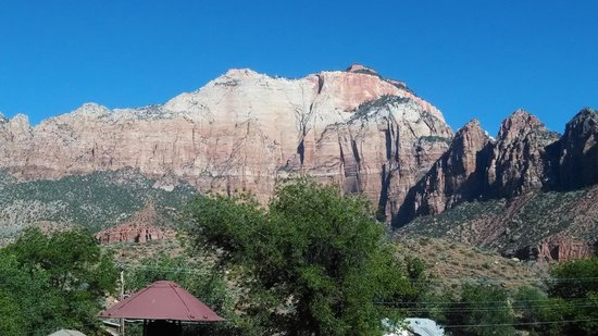Zion Canyon Bed and Breakfast: View from our room
