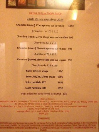 Best Western Hotel Ile De France : Prix des chambres