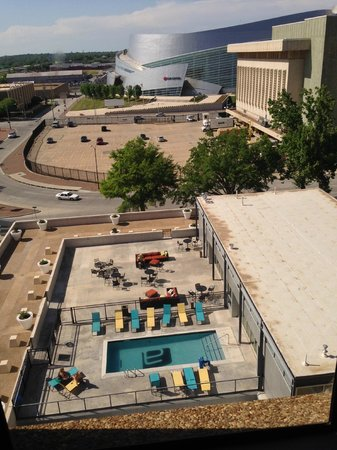 Aloft Tulsa Downtown: View from our room on 5th floor