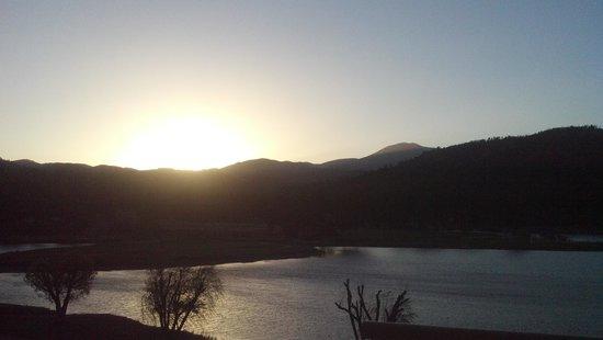 Inn of the Mountain Gods: NM sunset over the Sierra Blanca's