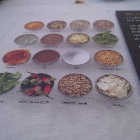 Tandoori's: description of spices