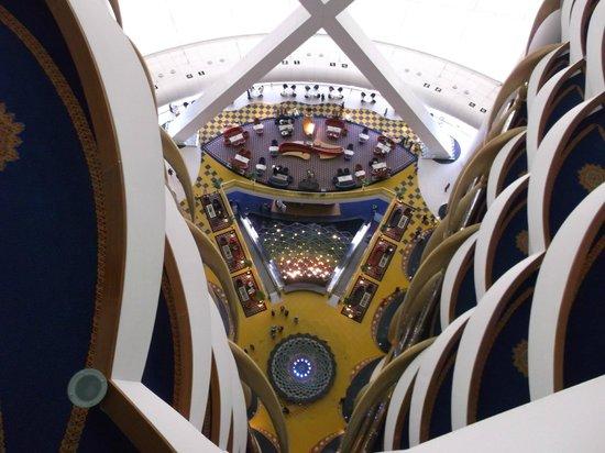 Burj Al Arab Jumeirah: looking down to the lobby