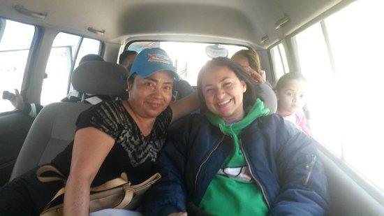 Hostal Guapulo Inti: Saliendo del Hostal para el Cotopaxi con la Sra. Olga