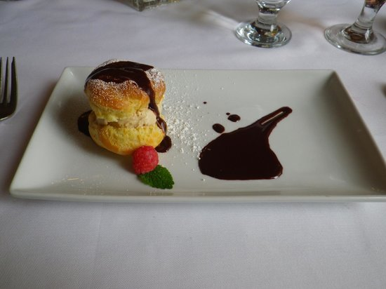 The Restaurant at the Golden Eagle Inn: House made profiteralls