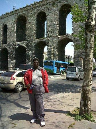 Historic Areas of Istanbul: A mis espaldas el famoso Acueducto de Estambul, no está muy lejos del centro y tardé media hora.