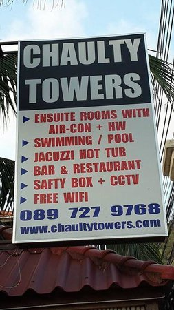 Chaulty Towers : sign
