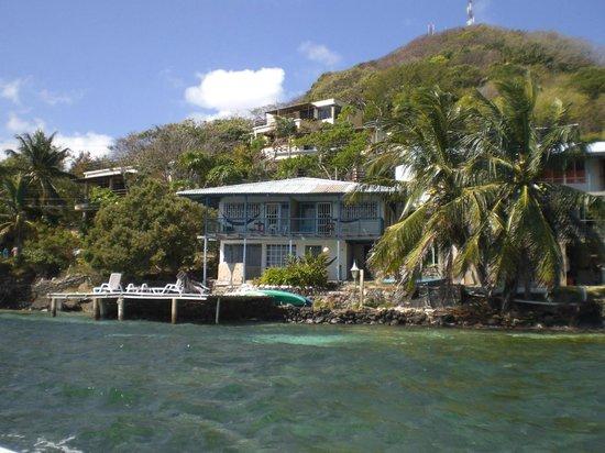 Posada Cocobay vista desde el mar