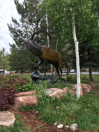BEST WESTERN Antlers : Saw this cool bull elk statue on the grounds