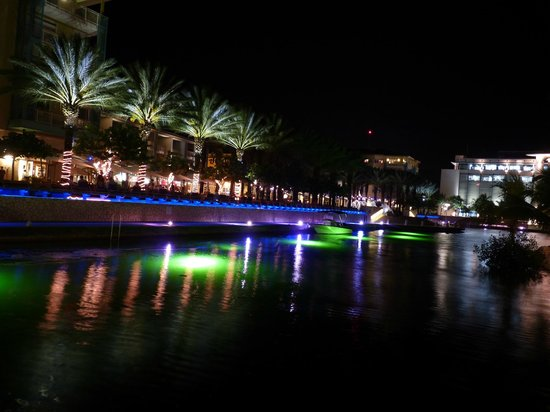 Comfort Suites Seven Mile Beach : Camana Bay at night from the man made island