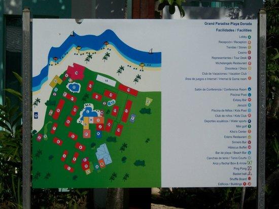 Grand Paradise Playa Dorada: Map