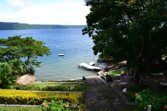 Laguna de Apoyo : Vista panorámica de la laguna desde Monkey Hut