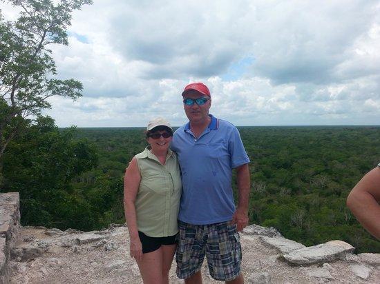 Ruinas de Coba: Top of Coba Pyramid