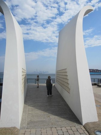 Postcards-The The Staten Island September 11 Memorial: The memorial itself is not large, but it makes a big impression on many visitors