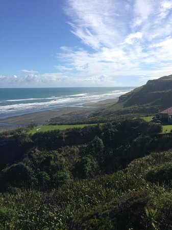 Castaways Resort : Actual view from Chalet of Kariotahi Beach