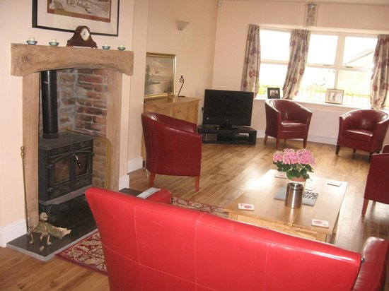 Ladywell House Bed & Breakfast: Our guest sitting room complete with log burner.