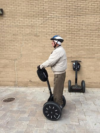 City Segway Tours of Washington, DC : Practice area and lesson before the tour starts.