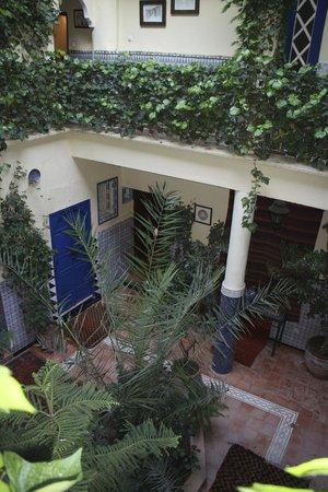 Hotel Sherazade : Central courtyard.