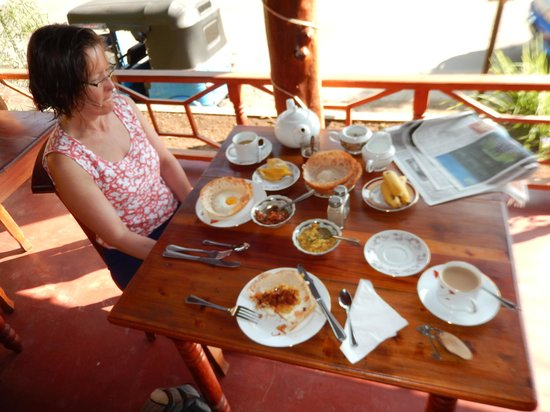 Aurora Bungalows: Sri Lankan hoppers for breakfast - highly recommended